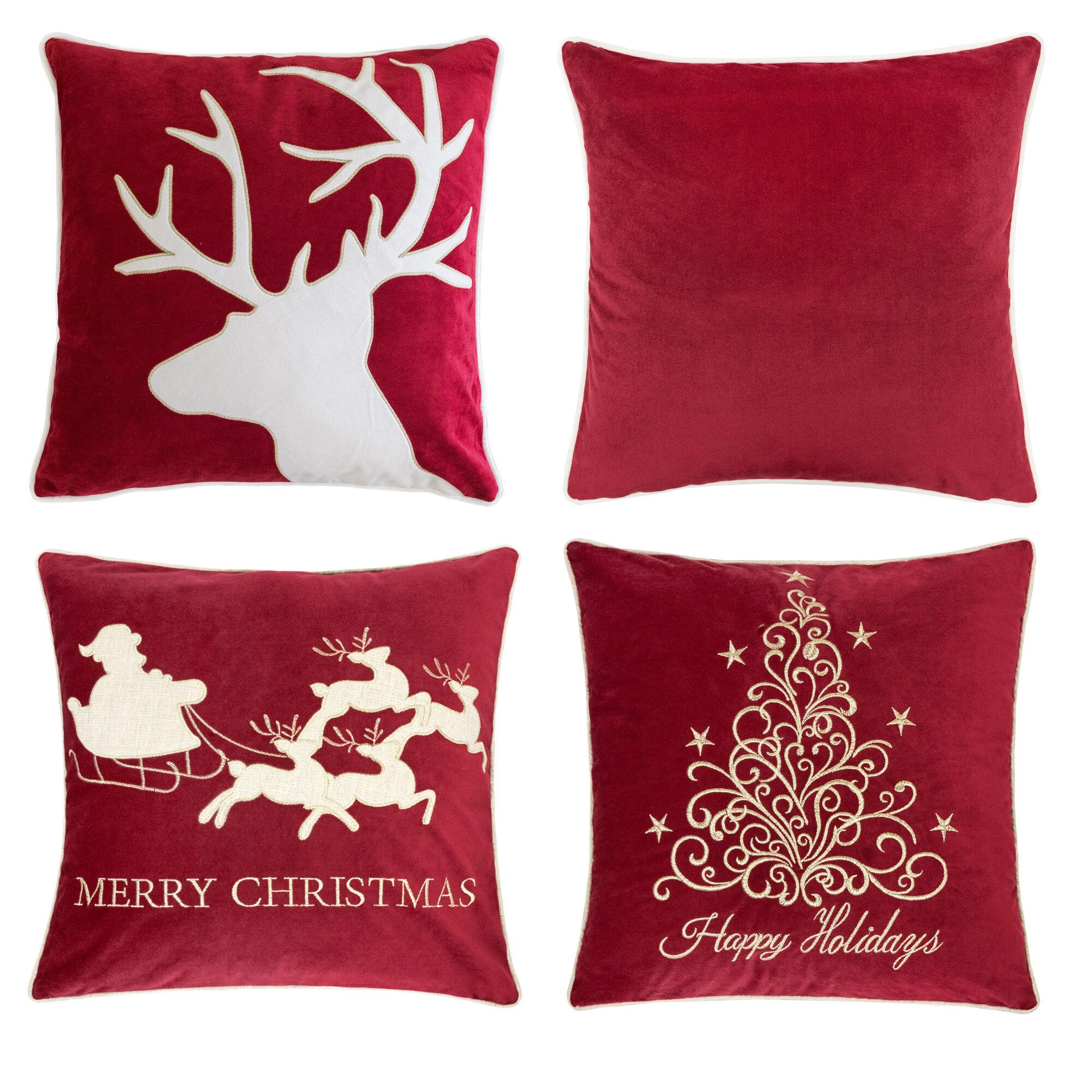 20 Square Velvet Christmas Pillows You Ll Love In 2021 Wayfair