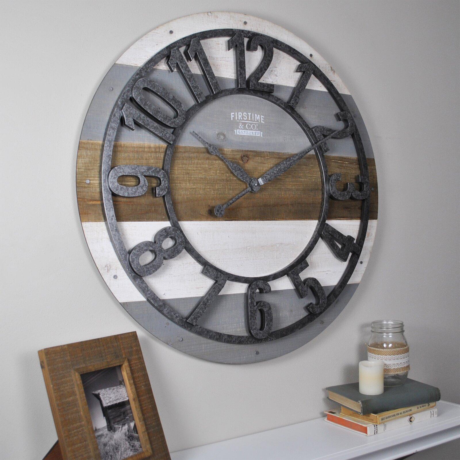 Rustic Shabby chic wall art - Dana Point Wall Clock