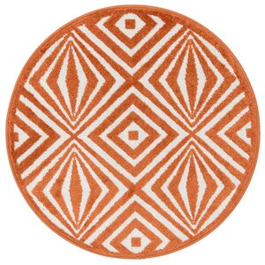 Terrace Ivory/Orange Area Rug