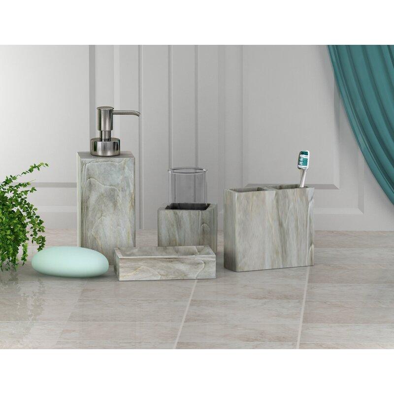 Union Rustic Cathryn Resin 4 Piece Bathroom Accessory Set Wayfair