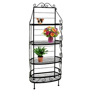 Fleur De Lis Living Brookover Wrought Iron Baker's Rack