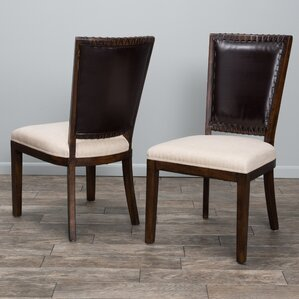 Americana Genuine Leather Upholstered Dining Chair (Set of 2) by Home Loft Concepts