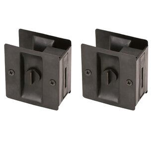 Bed and Bath Lock Pocket Door Hardware (Set of 2) by Design House