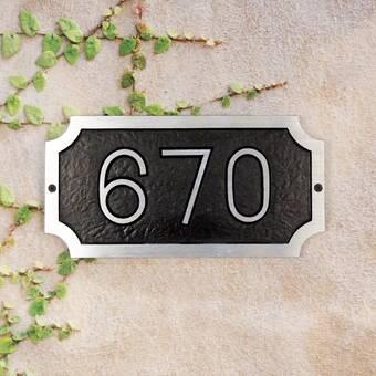 Kcastings Inc Albert Brass 1 Line Wall Address Plaque Wayfair