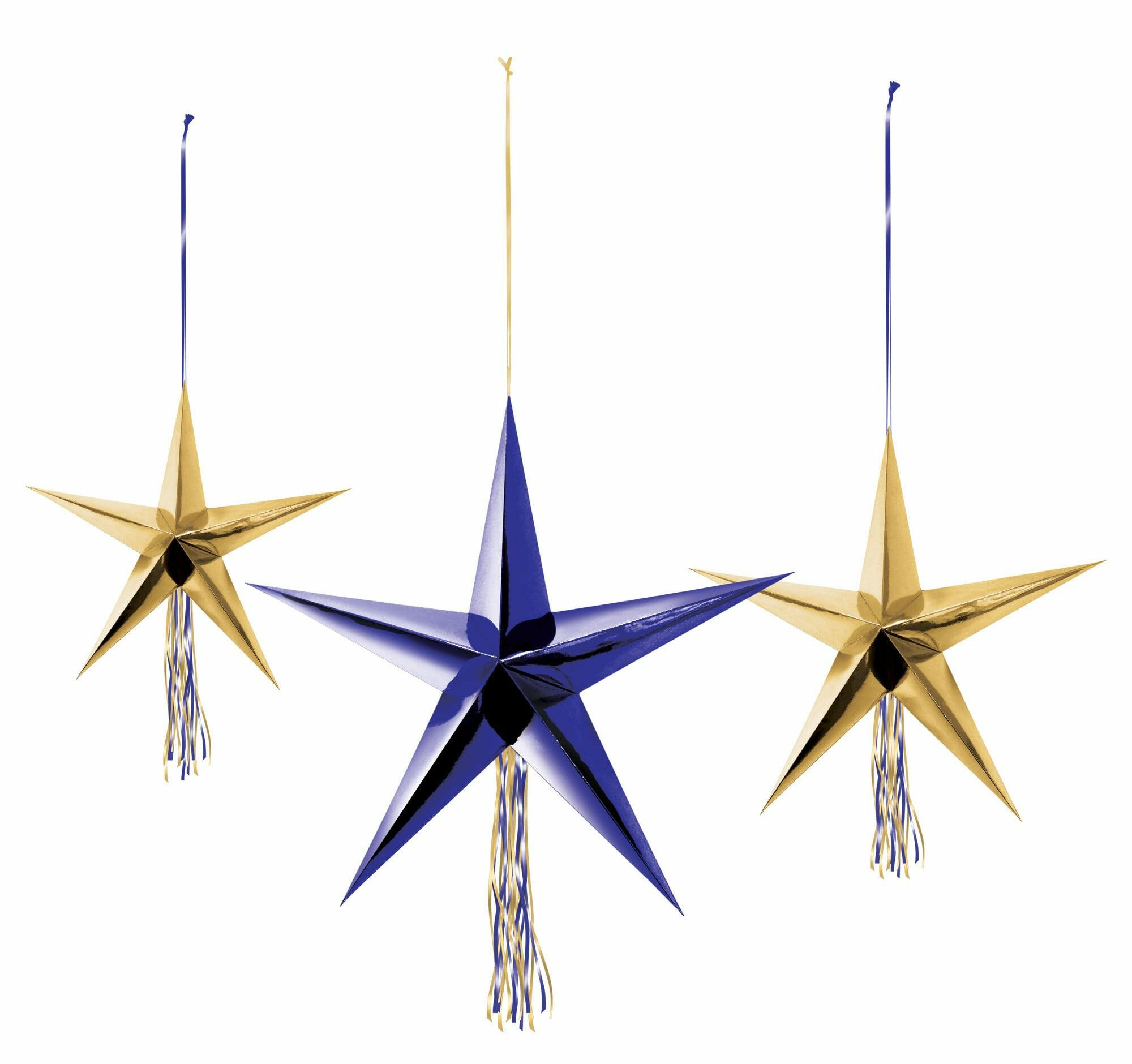 77700bf94cc68 Amscan 6 Piece Midnight New Year s Eve 3D Star Decoration