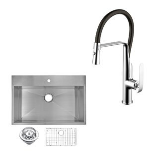 Flush Mount Kitchen Sinks Flush mount stainless sink wayfair all in one top mount stainless steel 33 x 22 drop in kitchen sink with faucet and pull out sprayer workwithnaturefo