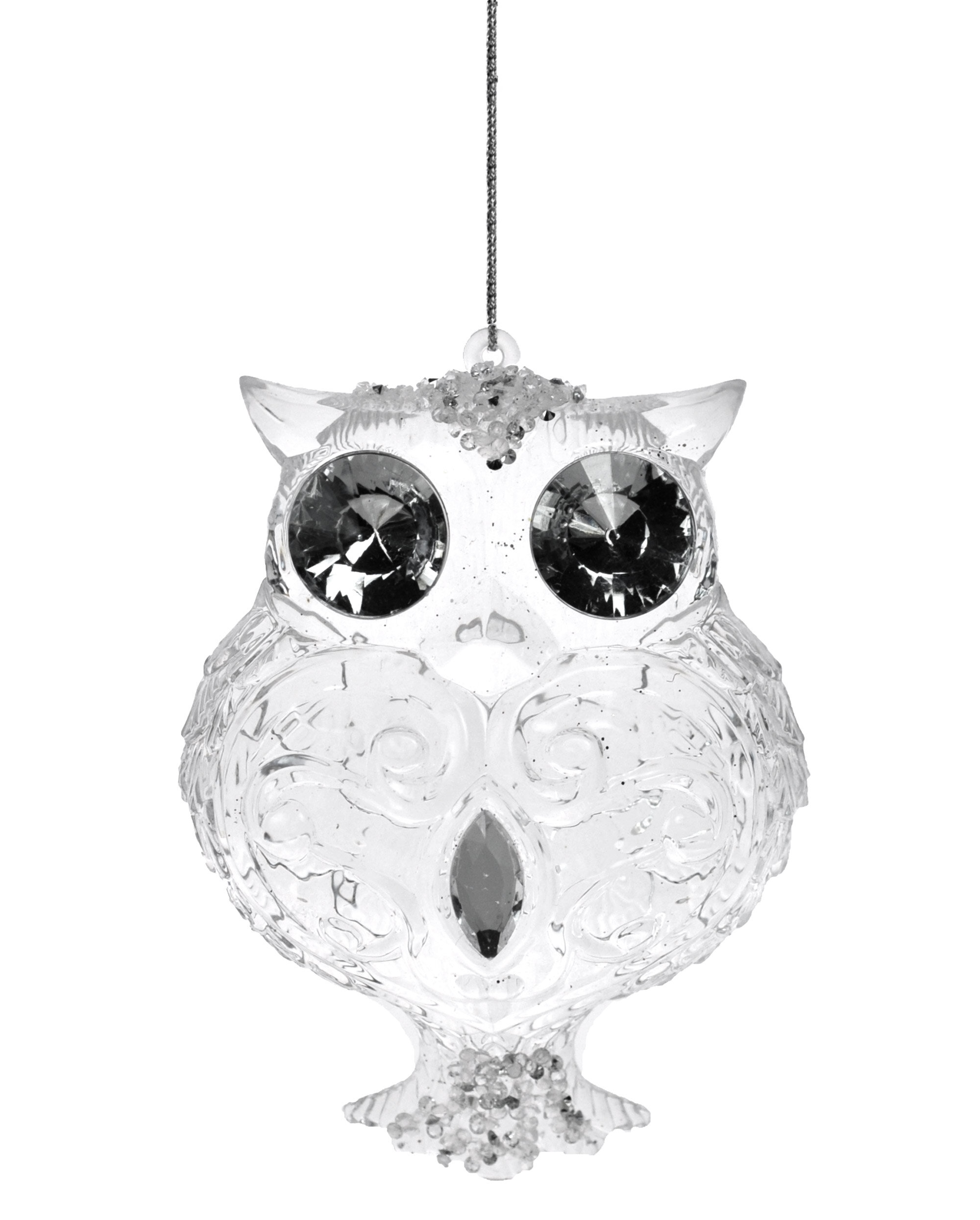 The Holiday Aisle Glass Curl Design Owl Hanging Figurine Ornament Wayfair