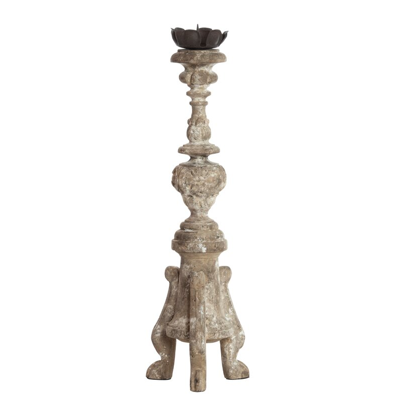 Toulouse Wood Candlestick