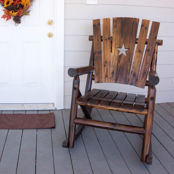 LeighCountry Char Log Star Single Rocking Chair U0026 Reviews | Wayfair