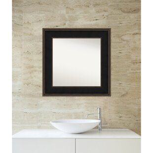 Darby Home Co Westmoreland Square Wood Wall Mirror