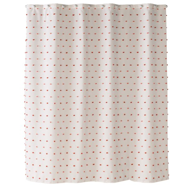 Modern & Contemporary Swiss Dot Shower Curtain | AllModern