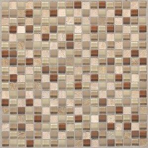 Treasure 12 X Gl Gem Mosaic Tile In Caramel Splash