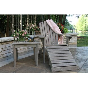 Guildford Eucalyptus Adirondack Chair with Ottoman by Three Posts