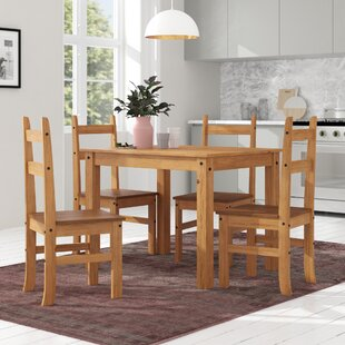 Dodge Dining Table With 4 Chairs By Union Rustic