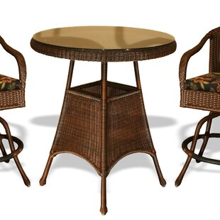 Fleischmann Glass Bar Table by Darby Home Co