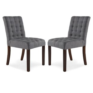 Ebern Designs Atkin Upholstered Dining Chair (Set of 2)