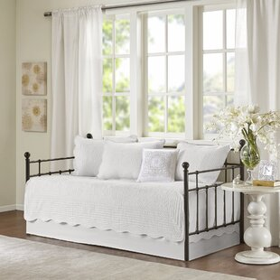 McMurray 6 Piece Reversible Scalloped Edge Daybed Cover Set