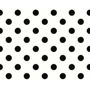 """Kroll 33' L x 21"""" W Polka Dot Wallpaper Roll"""