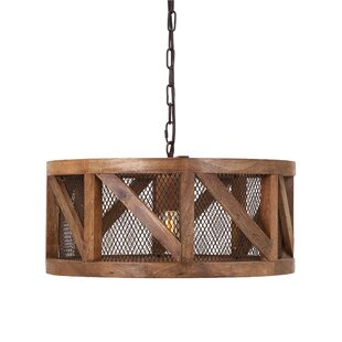 Reviews Augustus Wood and Wire 1-Light Pendant ByFoundry Select