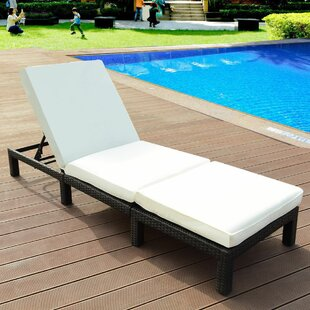 Capitol Adjustable Reclining Chaise Lounge with Cushion