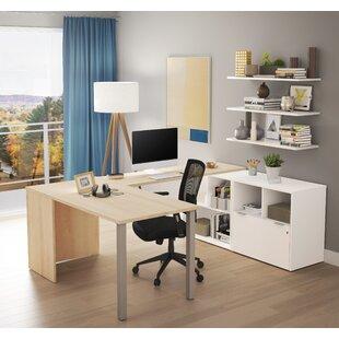 Brayden Studio Prattsburgh One File Drawer U-Shape Computer Desk