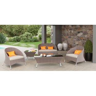 Brayden Studio Markowitz 5 Piece Sofa Set with Cushions