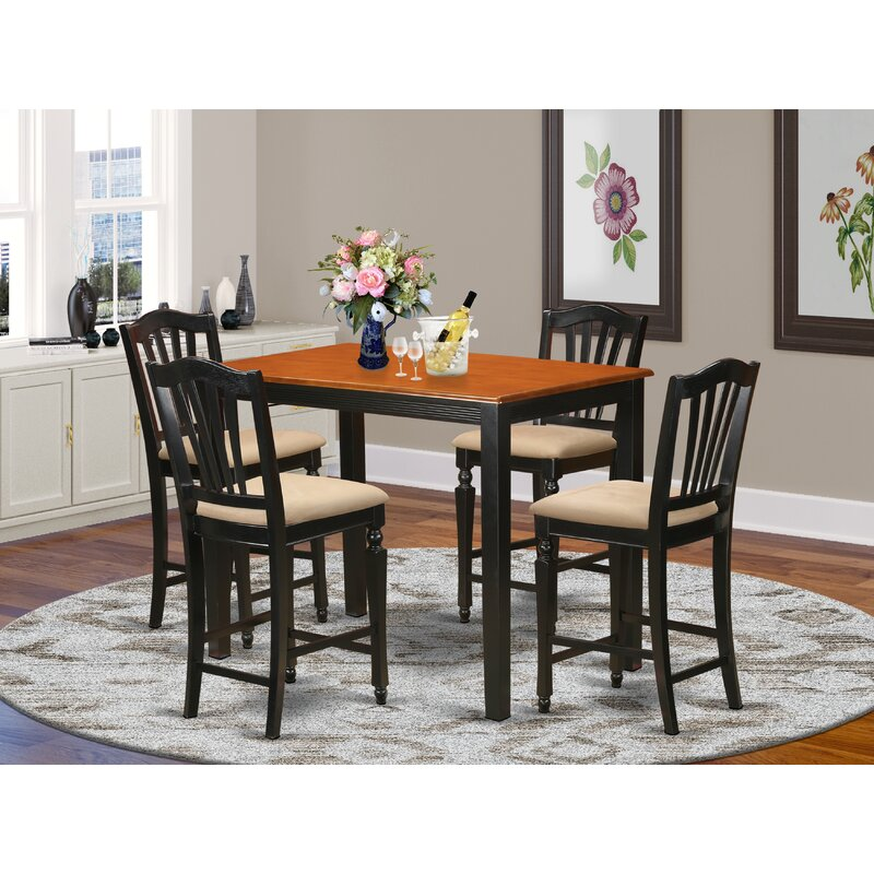 East West Yarmouth 5 Piece Counter Height Dining Set Wayfair