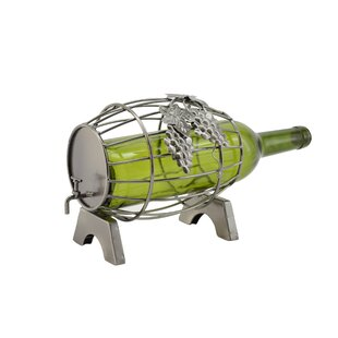 Barrel 1 Bottle Tabletop Wine Rack by Win..