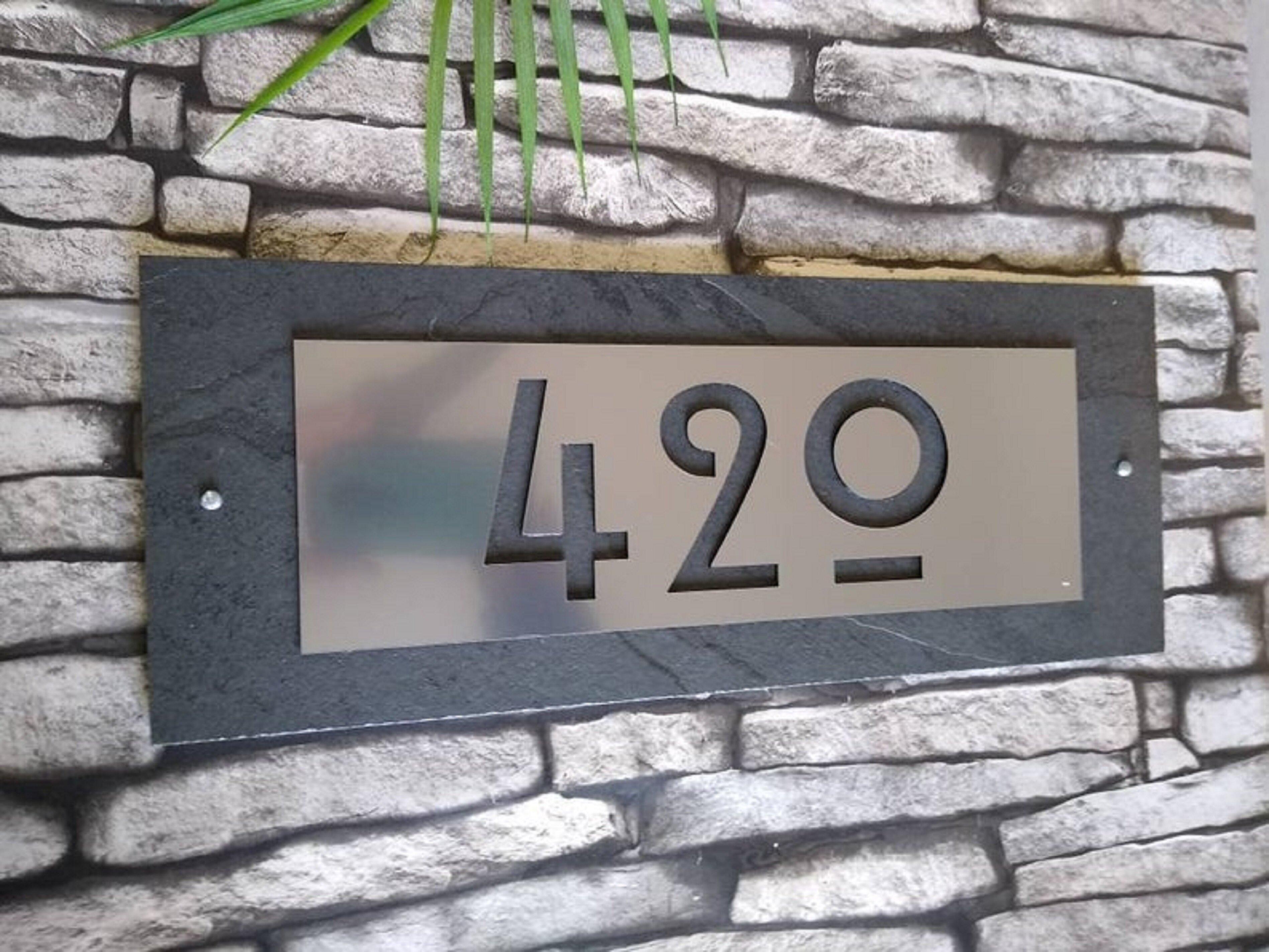 Bungalowg 1 Line Wall Address Plaque Wayfair