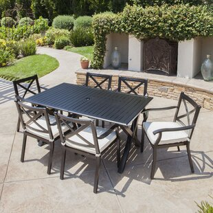 Lourdes 7 Piece Dining Set Gracie Oaks