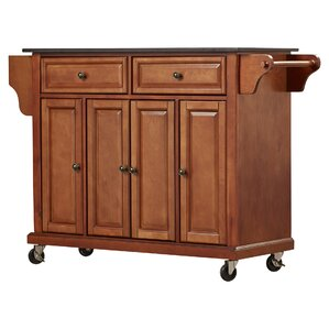 Pottstown Kitchen Island With Granite Top Part 90