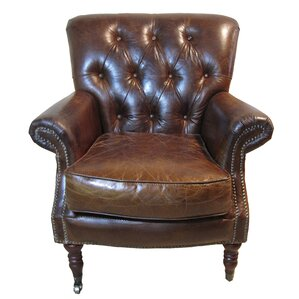 Belfort Leather Club Chair by White x White