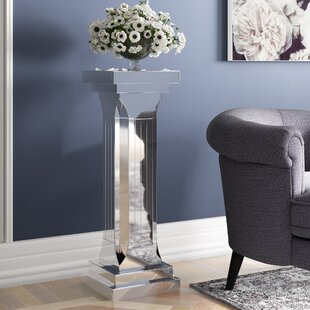 Norton Radstock Mirror Pedestal Plant Table By Canora Grey