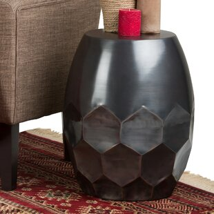 Midsomer Metal End Table by Wrought Studio