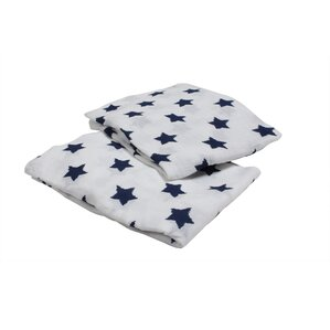stars fitted crib sheets set of 2