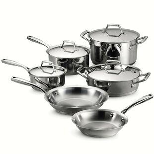 Gourmet 10 Piece Stainless Steel Cookware Set