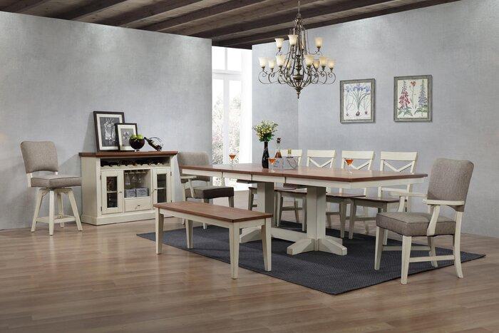 Pleasing Hayden Dining 2 Tone Bench Ibusinesslaw Wood Chair Design Ideas Ibusinesslaworg