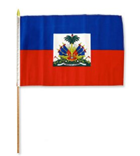 Haiti Traditional Flag And Flagpole Set (Set Of 12) by Flags Importer