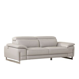 Amethy Leather Sofa by Orren Ellis