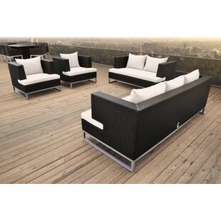 Braccio 4 Piece Rattan Sofa Set with Cushions