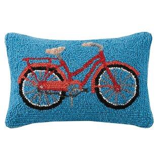 Clare Bike Mountain and Tent Wool Lumbar Pillow