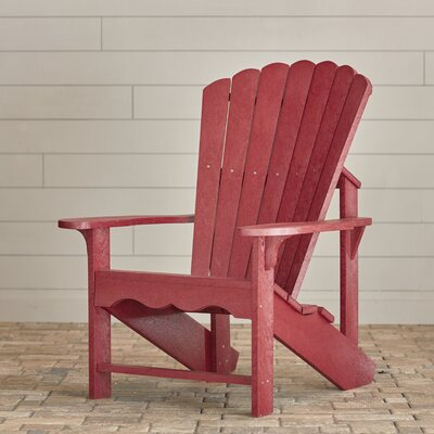Sandiford Plastic Adirondack Chair Beachcrest Home Color: Bordeaux