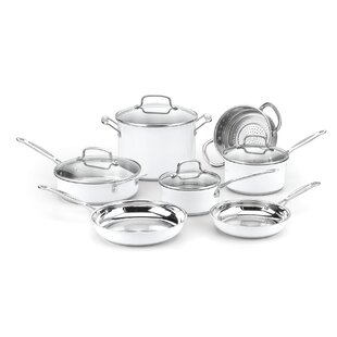 Chef's Classic 11 Piece Stainless Cookware Set By Cuisinart