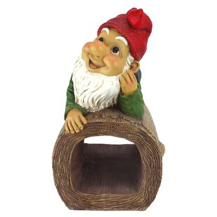 Stormy The Gnome Gutter Guardian Downspout Statue By Design Toscano