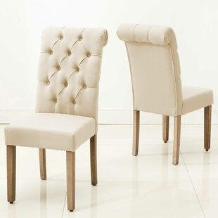 Scholl Roll Top Upholstered Dining Chair (Set of 2)