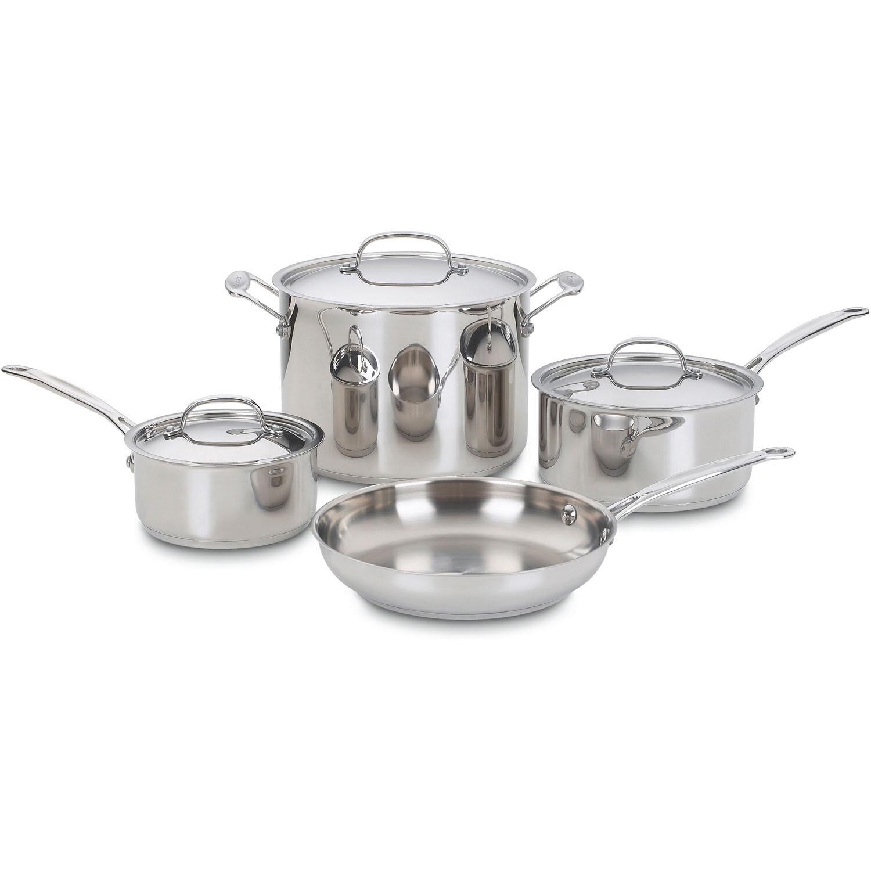 Cuisinart 7 Piece Chef S Clic Stainless Steel Cookware Set Reviews Wayfair
