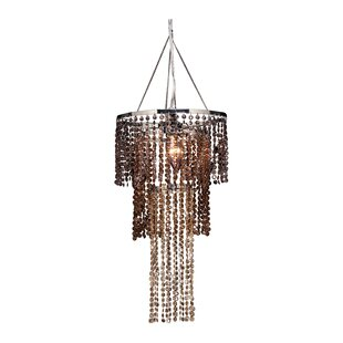 House of Hampton Felicia Triple Tier 1-Light Crystal Pendant
