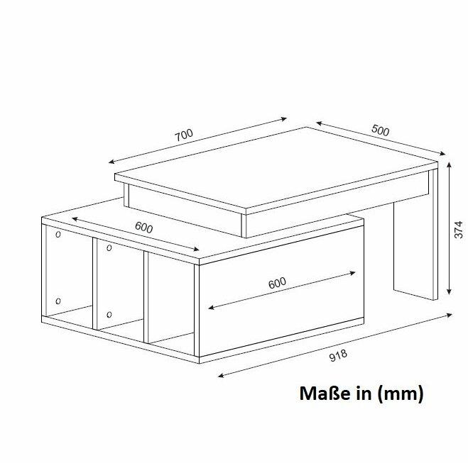 metro lane couchtisch benita mit stauraum bewertungen. Black Bedroom Furniture Sets. Home Design Ideas