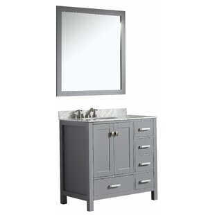 Best Deanne 36 Single Bathroom Vanity Set With Mirror By Darby Home Co