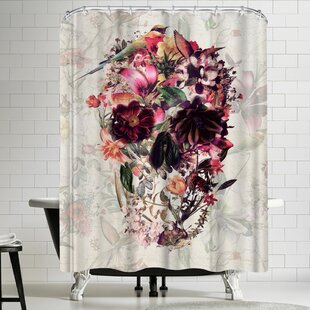 Looking for Ali Gulec New Skull Light Shower Curtain By East Urban Home